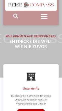 Vorschau der mobilen Webseite reisecompass.de, Reisecompass