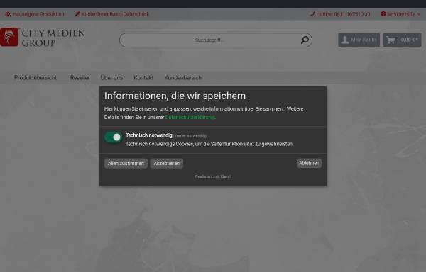 Vorschau von www.citymedien-shop.de, CityMedien Shop - Werbesysteme aller Art