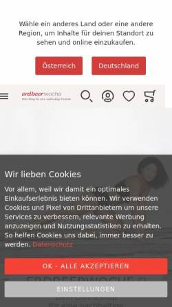 Vorschau der mobilen Webseite www.erdbeerwoche-shop.com, erdbeerwoche