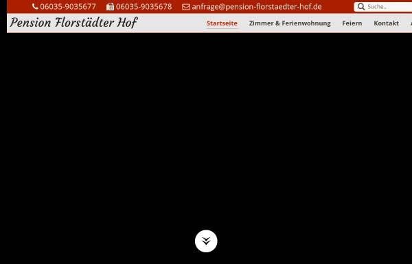 Vorschau von www.pension-florstaedter-hof.de, Pension Florstädter Hof