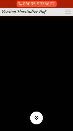 Vorschau der mobilen Webseite www.pension-florstaedter-hof.de, Pension Florstädter Hof