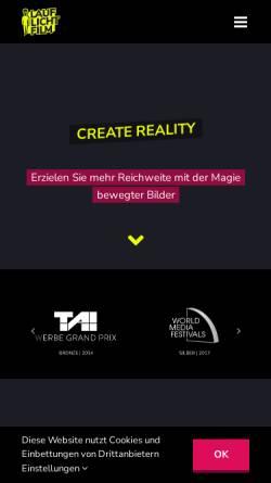 Vorschau der mobilen Webseite www.lauflichtfilm.de, Lauflicht Film
