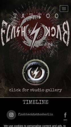 Vorschau der mobilen Webseite flashback-tattoo.de, FLASHBACK-Tattoo Berlin