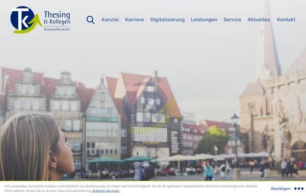 Vorschau von www.thesing-kollegen.de, Thesing & Kollegen Steuerberater