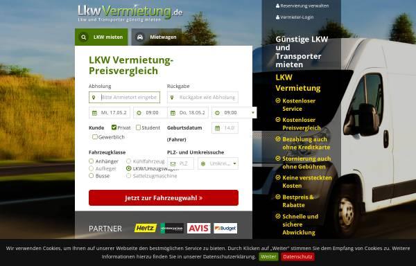 Vorschau von www.lkwvermietung.de, LKWvermietung.de