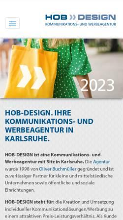 Vorschau der mobilen Webseite www.hob-design.de, HOB-DESIGN | Kommunikations- und Werbeagentur