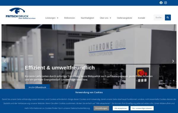 Vorschau von www.fritsch-druck.de, FRITSCH Druck GmbH