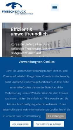 Vorschau der mobilen Webseite www.fritsch-druck.de, FRITSCH Druck GmbH
