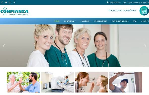 Vorschau von www.confianza-personal.de, CONFIANZA GmbH
