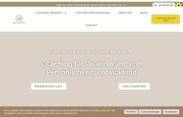 Vorschau von www.healingspace.at, Coaching Jens Wolff