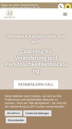 Vorschau der mobilen Webseite www.healingspace.at, Coaching Jens Wolff