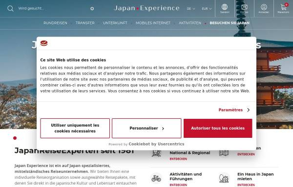 Vorschau von www.japan-experience.de, Japan Experience GmbH