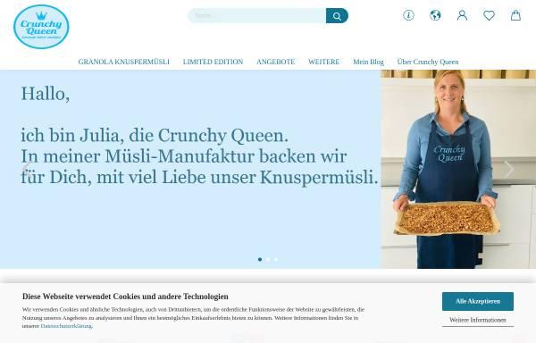Vorschau von www.crunchyqueen.de, Crunchy Queen - handgemachtes Knuspermüsli