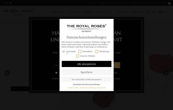 Vorschau von theroyalroses.de, The Royal Roses®