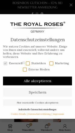 Vorschau der mobilen Webseite theroyalroses.de, The Royal Roses®