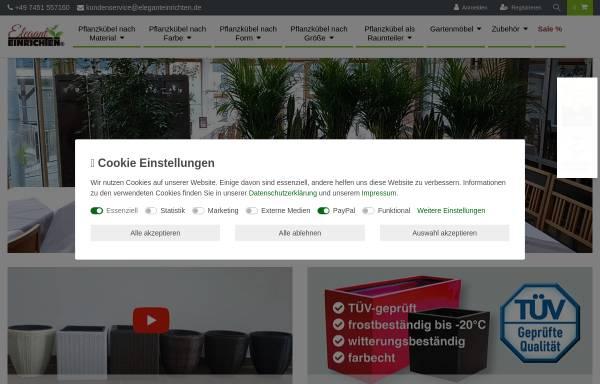 Vorschau von www.eleganteinrichten.de, Eleganteinrichten - Pflanzkübel vom Hersteller