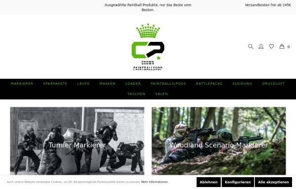 Vorschau von www.crownpaintballshop.de, Crown Paintballshop