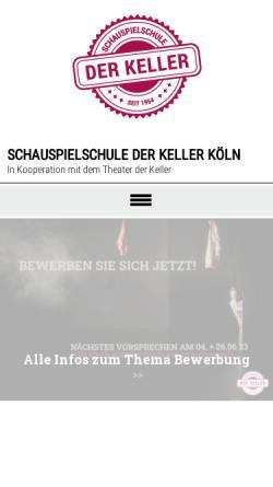 Vorschau der mobilen Webseite www.schauspielschule-koeln.de, Schauspielschule der Keller
