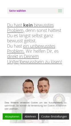 Vorschau der mobilen Webseite www.hypnose-praxis-landshut.de, Hypnosepraxis Markus Götz & Stefan Heim