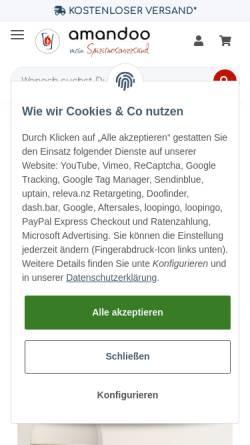 Vorschau der mobilen Webseite www.meinspirituosenversand.de, MeinSpirituosenversand
