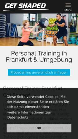 Vorschau der mobilen Webseite www.get-shaped.de, Philippe Krisch, Get Shaped