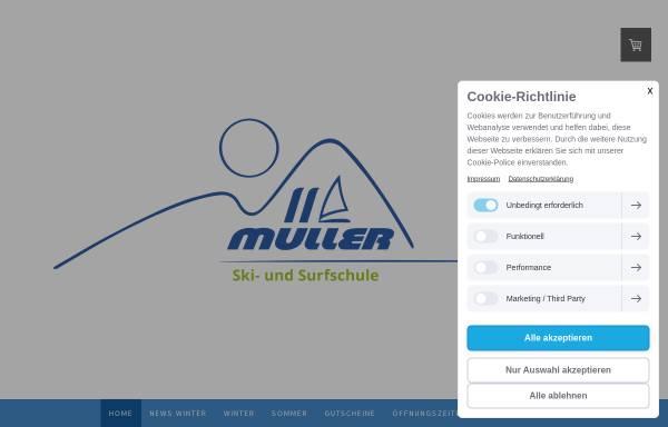 Vorschau von www.skischulemueller.de, Ski- und Surfschule Müller, Fürstenfeldbruck