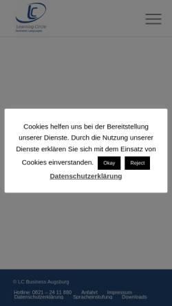 Vorschau der mobilen Webseite www.augsburger-sprachkurse.de, Learning Circle Business Languages
