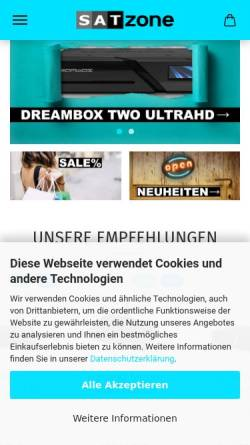 Vorschau der mobilen Webseite satzone.de, SatZone