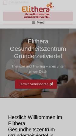 Vorschau der mobilen Webseite www.physiosiekman.de, Physiotherapie Richard Siekman (NL)