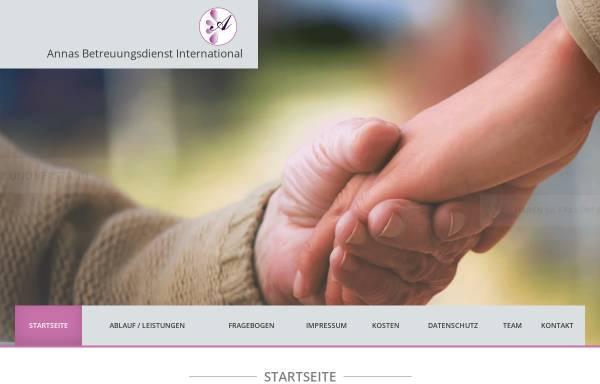 Vorschau von annas-pflegedienst.de, Annas Pflegedienst