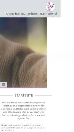 Vorschau der mobilen Webseite annas-pflegedienst.de, Annas Pflegedienst