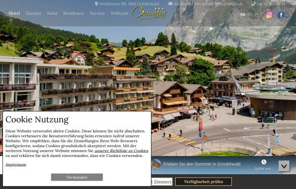 Vorschau von www.hotel-bernerhof-grindelwald.ch, Hotel Bernerhof Grindelwald***
