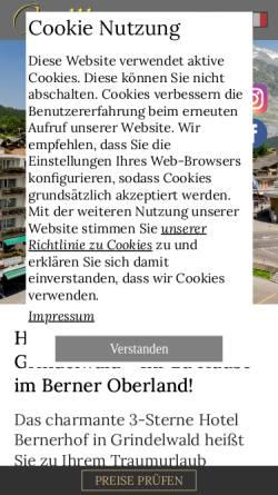 Vorschau der mobilen Webseite www.hotel-bernerhof-grindelwald.ch, Hotel Bernerhof Grindelwald***