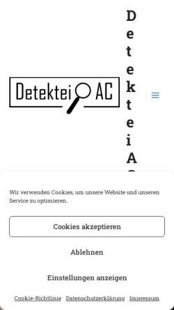 Vorschau der mobilen Webseite www.detektei-ac.de, Detektei AC