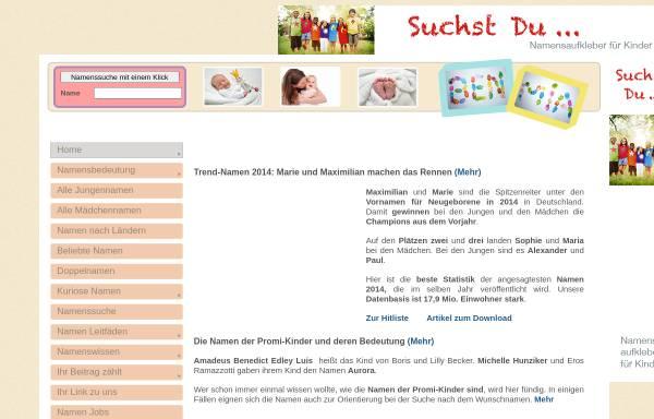 Vorschau von www.namen-namensbedeutung.de, Namen / Namensbedeutung