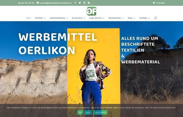 Vorschau von www.werbemittel-oerlikon.ch, Werbemittel-Oerlikon/Green Fara GmbH