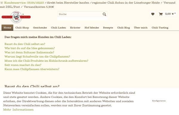 Vorschau von die-chili-manufaktur.de, Chilli Manufaktur Soltau