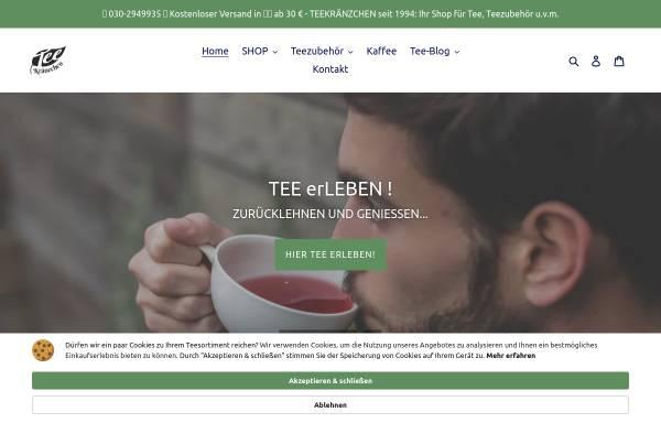 Vorschau von teekraenzchen.eu, Teekränzchen - Ihr freundlicher Teefachhändler in Berlin