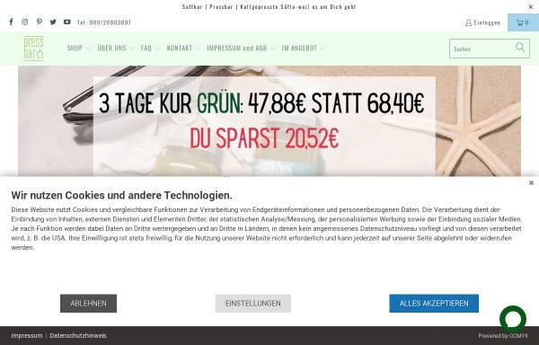 Vorschau von pressbar.eu, pressbar-GmbH