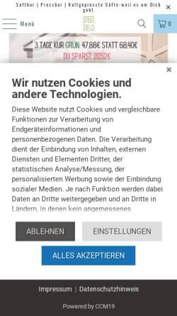 Vorschau der mobilen Webseite pressbar.eu, pressbar-GmbH