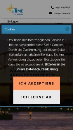 Vorschau der mobilen Webseite www.utime.de, uTime - Zeit für dich!