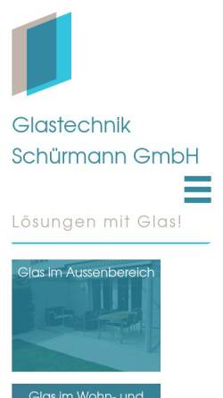 Vorschau der mobilen Webseite www.glas-technik.ch, Glastechnik Schürmann GmbH