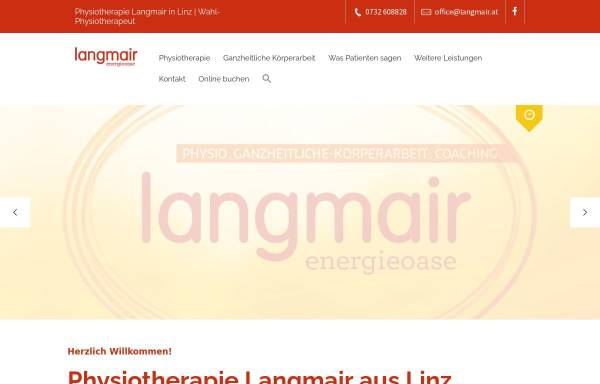 Vorschau von www.langmair.at, Physiotherapeut Richard Langmair