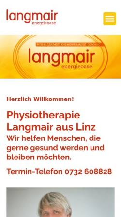 Vorschau der mobilen Webseite www.langmair.at, Physiotherapeut Richard Langmair