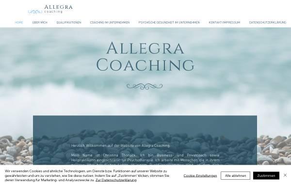 Vorschau von www.allegra-coaching.com, Allegra Coaching