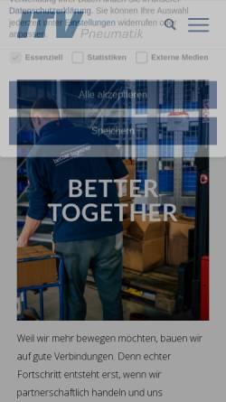 Vorschau der mobilen Webseite itv-gmbh.de, ITV Pneumatik