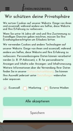 Vorschau der mobilen Webseite fruehlingszwiebel.com, Fitnessblog Frühlingszwiebel
