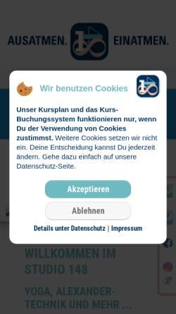 Vorschau der mobilen Webseite www.einsvieracht.de, 148.Ausatmen.Einatmen