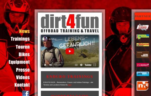 Vorschau von dirt4fun.de, dirt4fun Offroad Training & Travel