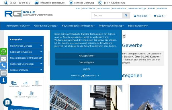Vorschau von www.rolle-gerueste.de, Rolle Gerüstvertrieb e. K